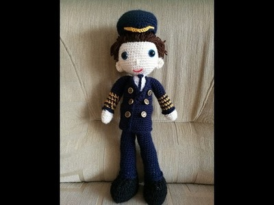 No 149# Lalka Kapitan na szydełku - Doll pilot on crochet PART 2.3
