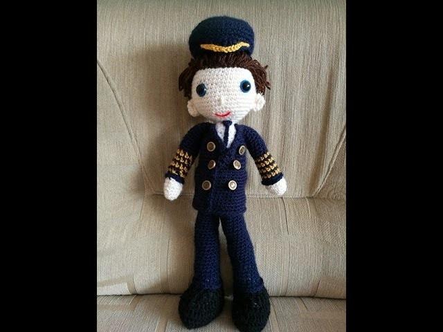 No 149# Lalka Kapitan na szydełku - Doll pilot on crochet PART 2.3