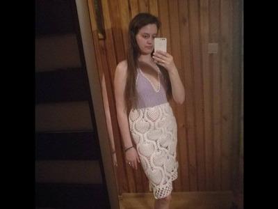 No 150# Sukienka na szydełku - Dress crochet PART 3-3