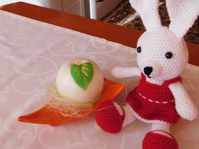 Zajączek na szydełku. Bunny Crochet Amigurumi. Ślązaczka Halinka