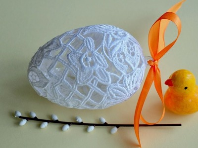 Pisanka z koronki krok po kroku 2  # Egg crafts DIY