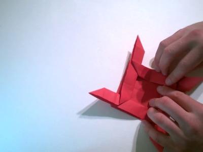 Roża, instrukcja robienia origami.