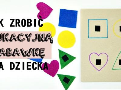 DIY | Edukacyjna zabawka sorter puzzle dla małego dziecka | Zaradni Rodzice