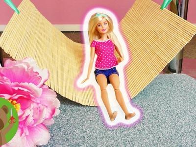 DIY hamak dla Barbie | DIY dla lalek | błyskawiczne łóżko dla lalki