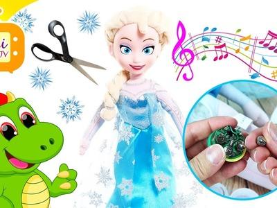 Elsa - Kraina Lodu - Śpiewająca Lalka Dla Dzieci - Jak wymienić wszyte baterie DIY