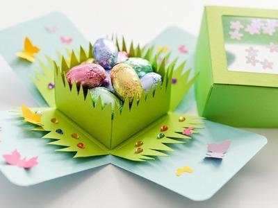 How to Make - Exploding Box Easter Spring - Step by Step DIY | Eksplodujące Pudełko Wielkanoc Wiosna
