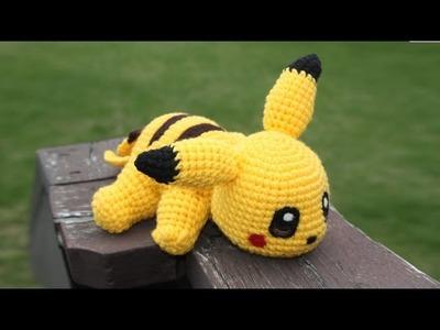 [Pokemon] Pikachu Amigurumi Crochet Tutorial