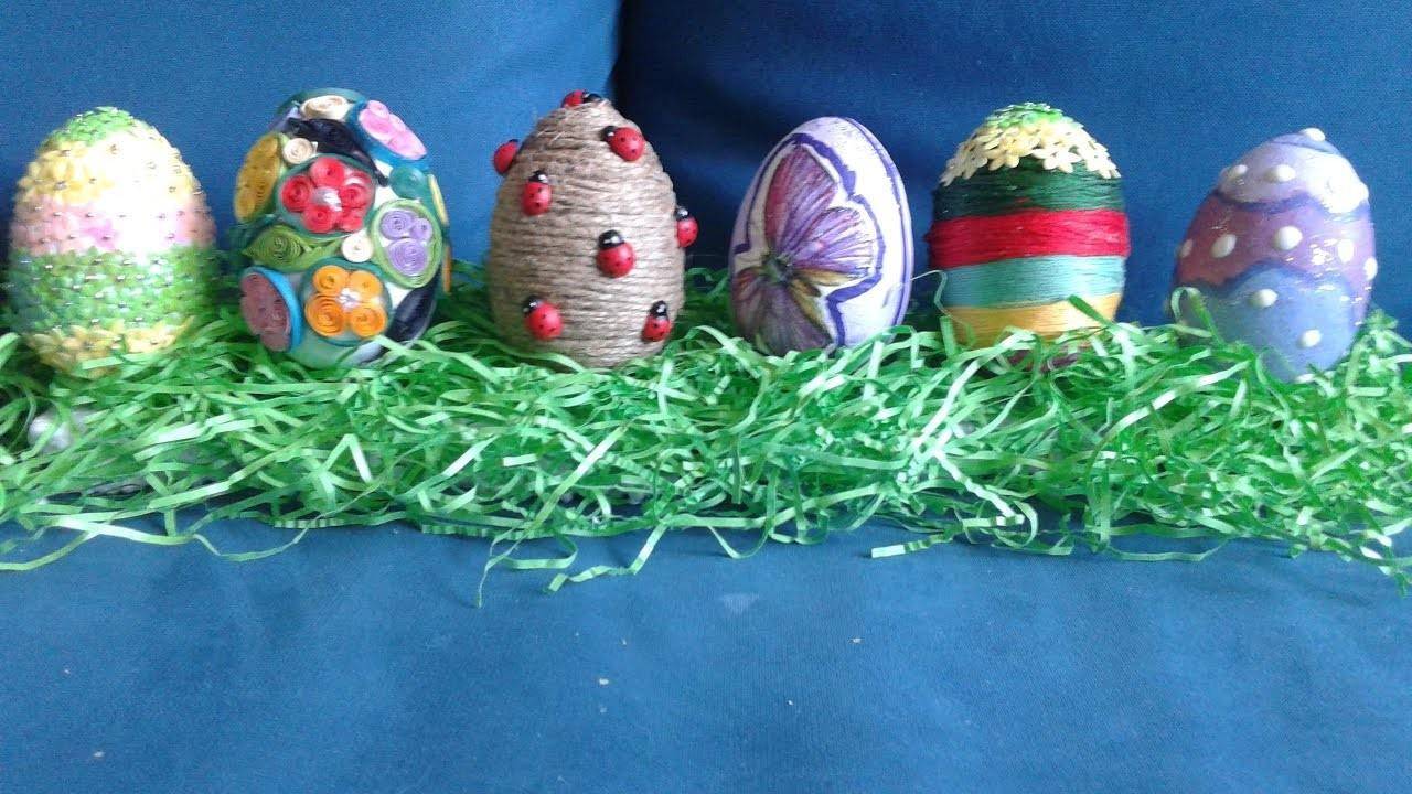 Jak można ozdobić wielkanocne styropianowe jajka. How can you decorate styrofoam eggs.