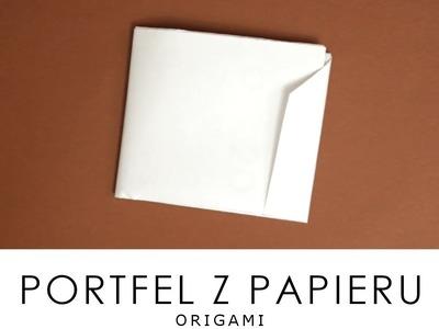 Jak zrobić: portfel z papieru , ORIGAMI |DIY|