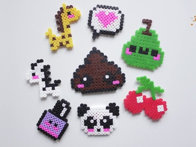 KAWAII magnesy na lodowke | Perler Beads | koraliki do prasowania | DIY KAWAII fridge magnets