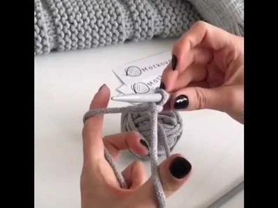 Robótki na drutach. Knitting - Nabieranie oczek. Cast on