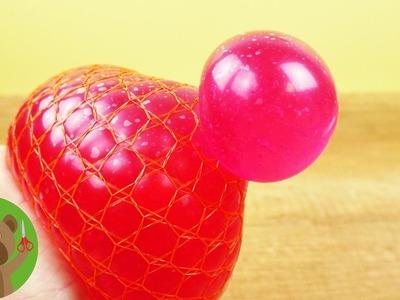 DIY Squishy Mesh Ball | piłeczka antystresowa z galaretką kąpielową w siatce po cytrusach | DIY