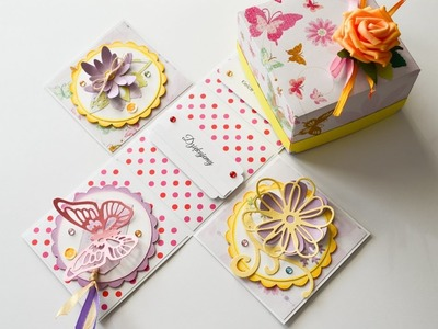 How to Make - Exploding Box Gift Birthday  - Step by Step DIY | Eksplodujące Pudełko