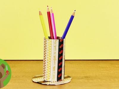 Pomysły na wykorzystanie rolek po papierze toaletowym | stojak na długopisy | proste DIY