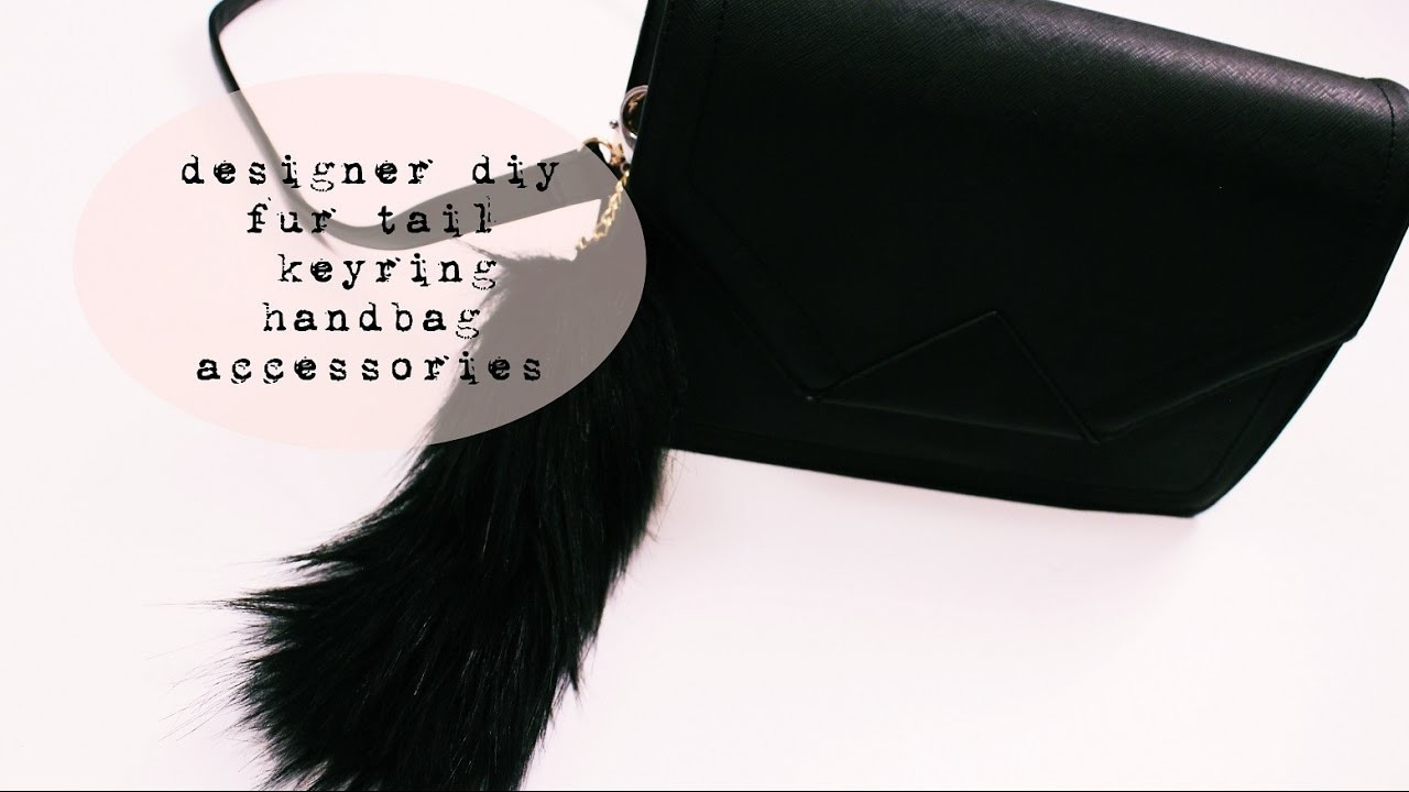 Designer diy fur tail keyring handbag accessories . efutro.pl . [anna koper]