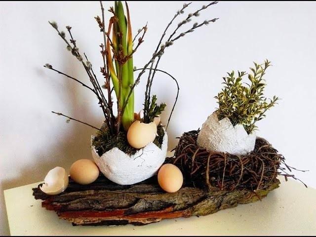 DIY wiosenne dekoracje, gipsowe jajka na Wielkanoc